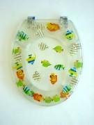 WC Sitz transparent Fische