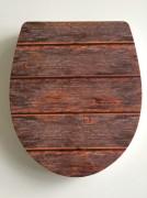 WC Sitz Duroplast Holz
