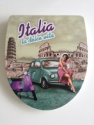 WC Sitz Duroplast Italia la dolce vita, Absenkautomatik, abnehmbar