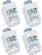 Programmierbarer Heizkörper-Thermostat (Energiesparregler) 4er-Set